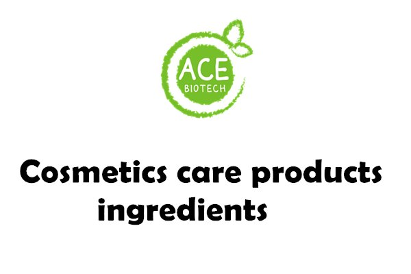 Cosmetis care products ingredients powder